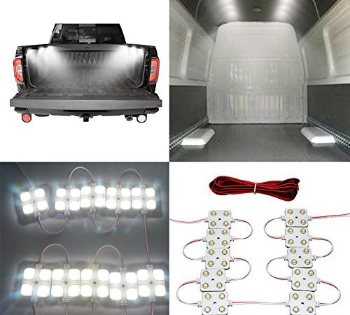 12V 60 LEDs Van Interior Light Kits 20 Modules, White Ampper LED Ceiling Lights Kit for Van RV Boats Caravans Trailers Lorries Sprinter Ducato Transit VW LWB