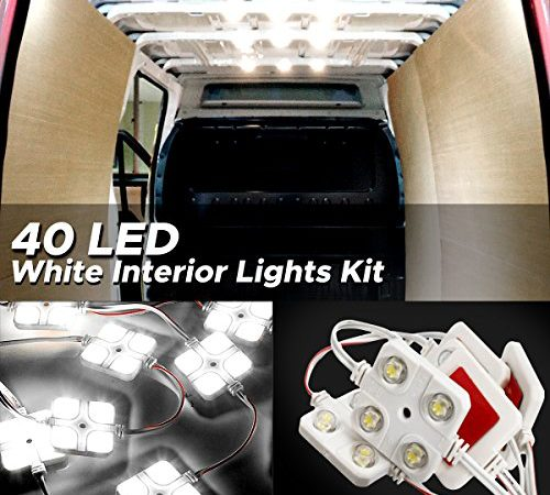 AUDEW 40 Led White Interior Lights Kit, Ampper LED Ceiling